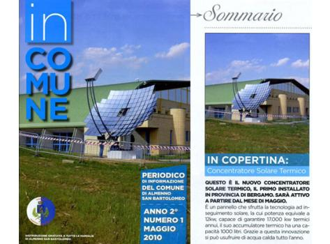 The first solar thermal concentrator installed in the province of Bergamo